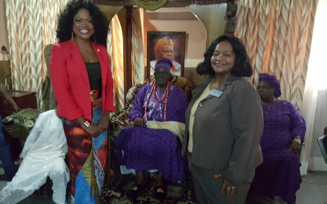 Courtesy Visit to Oba of Badadry, Nigeria, Nigeria with Senator Donzella James of Georgia, Atlanta, USA