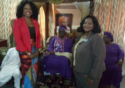 Courtesy Visit to Oba of Badadry, Nigeria, Nigeria with Senator Donzella James of Georgia, Atlanta, USA