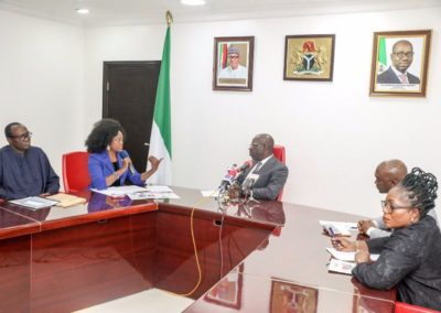 Visist to Edo State Governor- Dr. Godwin Obaseki