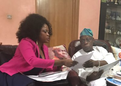 Courtesy visit to Chief (Dr.) Olusegun Obasanjo, Former President of the Federal Republic of Nigeria at the Presidential Estate, Nigeria